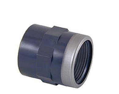 Муфта переходная ПВХ клеевое соединение / внутренняя резьба усиленная стальным кольцом CEPEX
