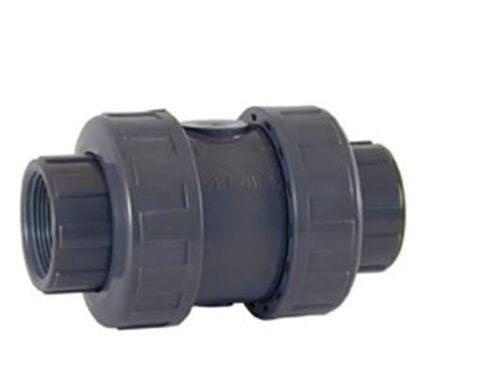 Обратный клапан ПВХ пружинный с резьбовыми окончаниями CEPEX