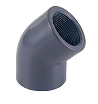 Отвод резьбовой ПВХ 45° внутренняя резьба / внутренняя резьба CEPEX