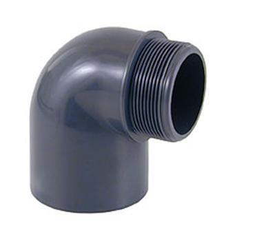 Отвод переходной ПВХ 90° клеевое соединение / наружная резьба CEPEX