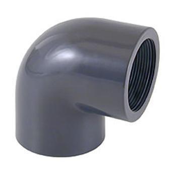 Отвод резьбовой ПВХ 90° внутренняя резьба / внутренняя резьба CEPEX
