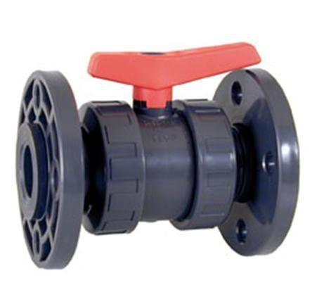 Шаровой кран ПВХ промышленного применения с фиксированными фланцами DIN 2501 CEPEX