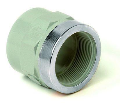 Переходная муфта усиленная с внутренней пластикой резьбой ХПВХ Corzan®