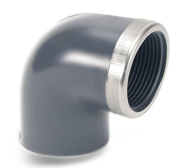 Угольник 90° ПВХ с металлическим кольцом Comer, Италия